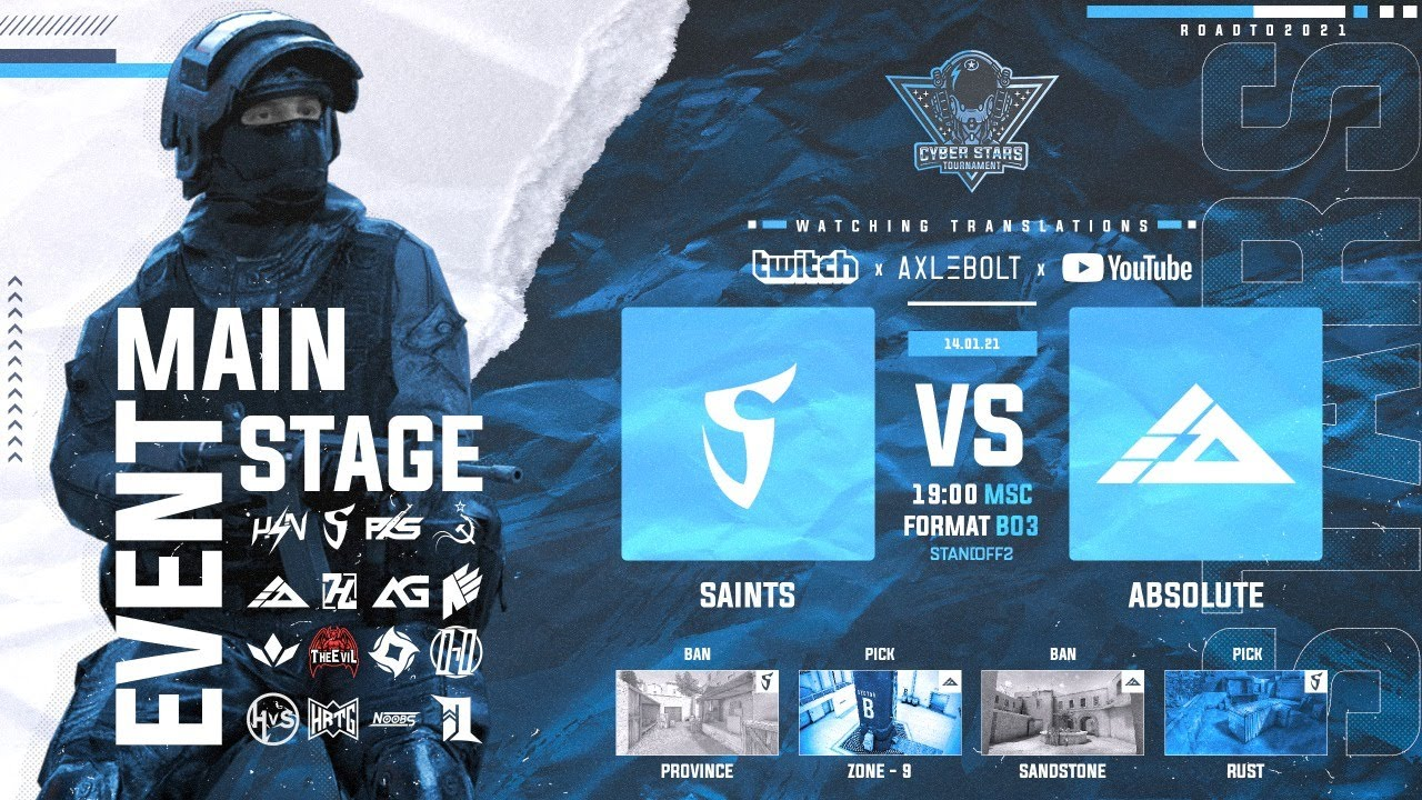 Saints vs Absolute // MAIN STAGE // Standoff 2 // Стандофф 2
