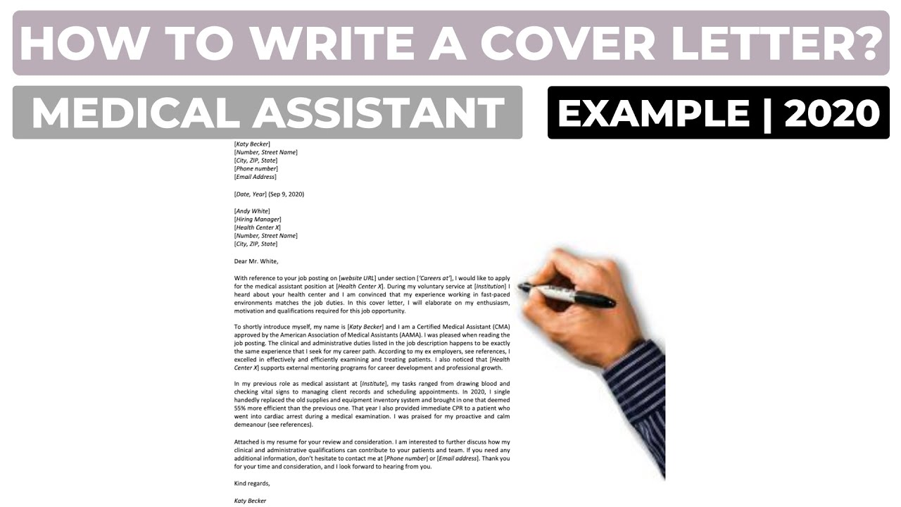 How To Write A Cover Letter For A Medical Assistant Position Example Youtube