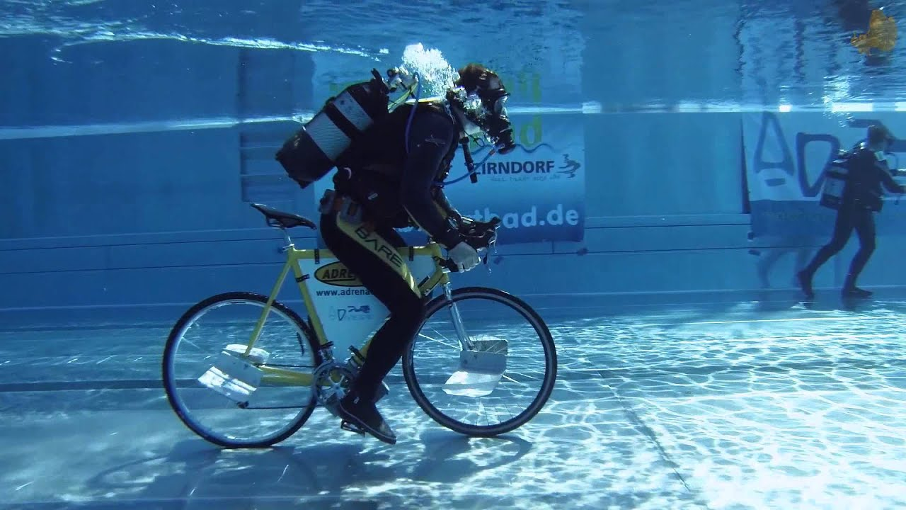 Under Water Cycling Ffm Style Youtube