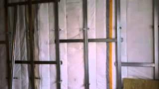 Звукоизоляция стены мембраной TECSOUND(, 2013-03-24T16:09:51.000Z)