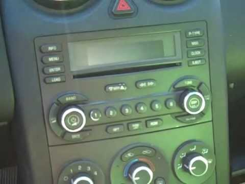 How To Pontiac G6 Car Bose Stereo Radio Cd Removal 2005