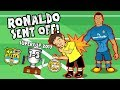🔴RONALDO RED CARD🔴 CR7 shoves the ref Barcelona 1 3 Real Madrid PARODY Supercup 2017