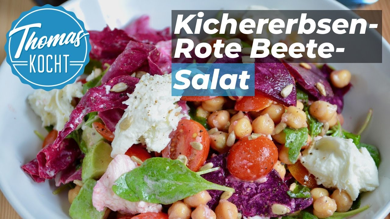 Kichererbsensalat Mit Roter Bete Avocado Power Salat Super
