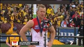 Ryan O'Keefe's Norm Smith Medal - AFL Grand Final