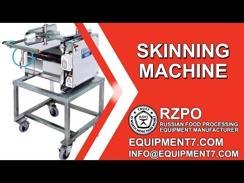 Skinning Fish Fillets And Squid Fillets. Skinning Machine