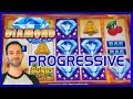 💠⚡Diamond Storm HUGE Progressive WIN! 🎰 ✦ Slot Machine Pokies w Brian Christopher