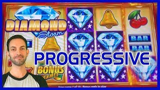 💠⚡Diamond Storm HUGE Progressive WIN! 🎰 ✦ Slot Machine Pokies w Brian Christopher