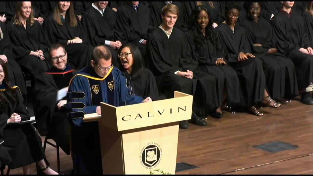 college Dick calvin speech devos at