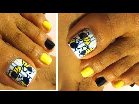 Pedicure Juvenil Abejasuñas Decoradas De Los Piestoe Nails Art