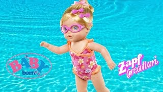 Baby Born Mummy I can Swim Doll -Baby Born Doll reall swims in the bath | TheChildhoodLife