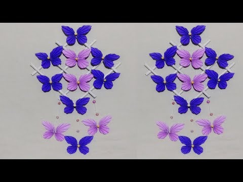 DIY : Paper Butterfly Wall Hanging /diy art and craft ideas/Wall Decoration ideas/Art Gallery