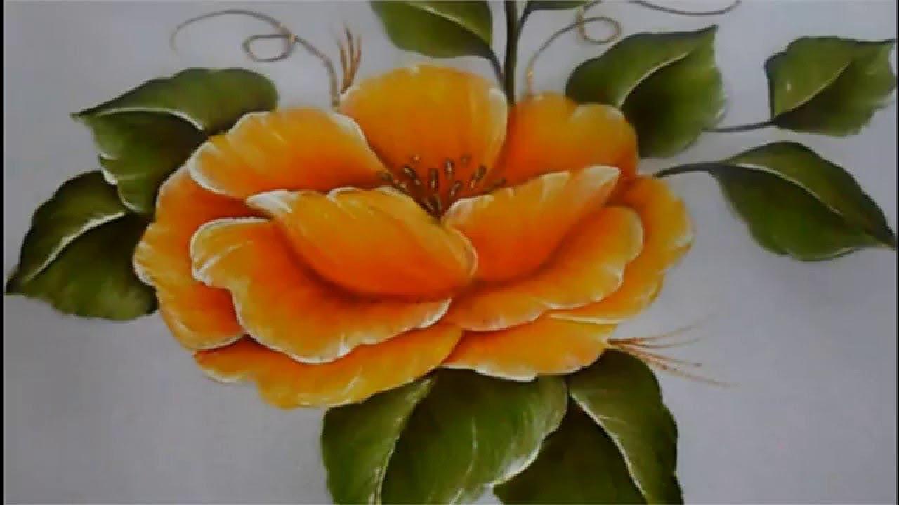Pintura Textil Paso A Paso Flor Amarilla Textile Painting How To Paint A Flower