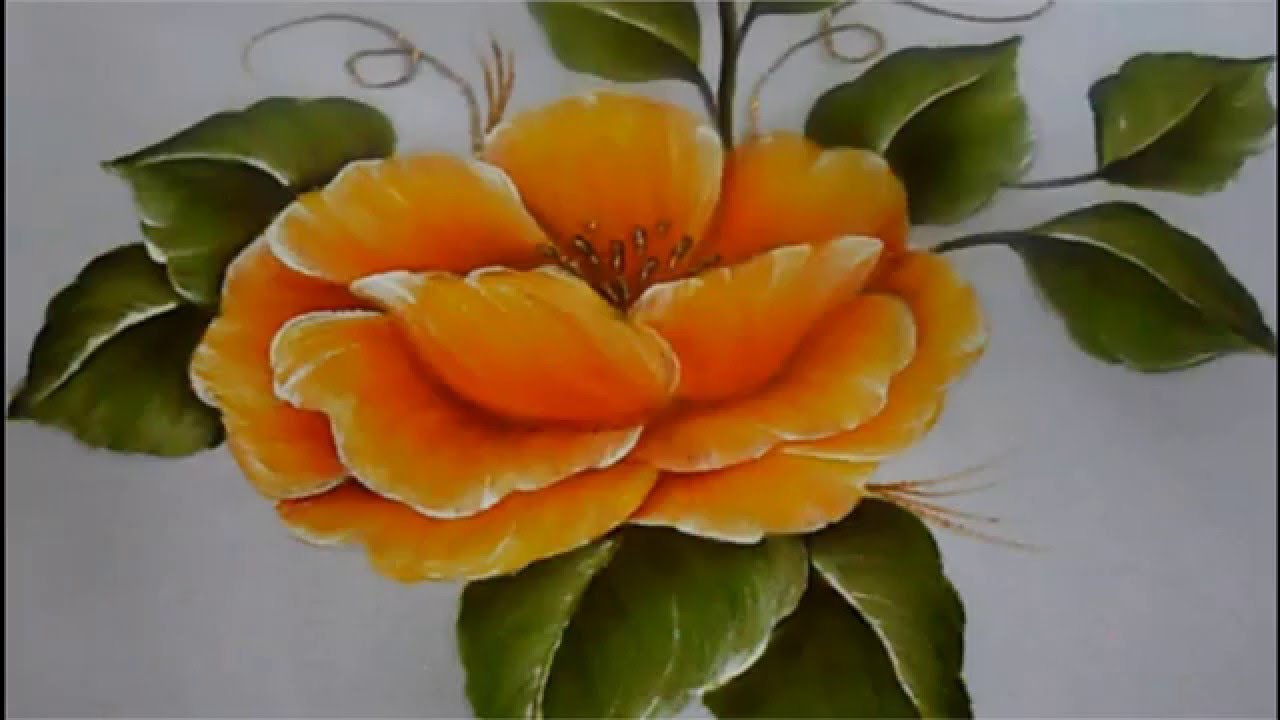Pintura textil paso a paso Flor Amarilla, Textile painting, How to ...