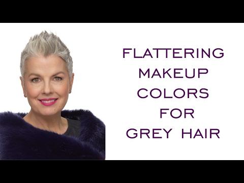 Flattering Makeup Colors For Grey Hair