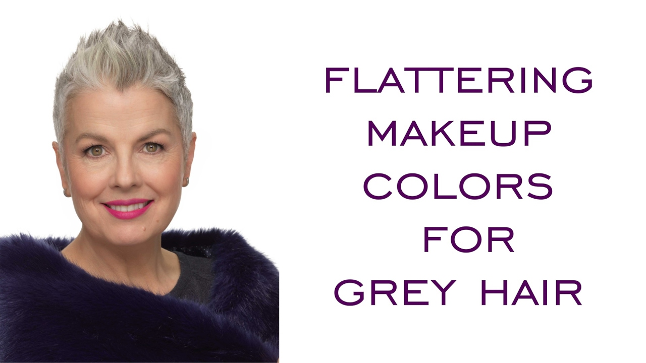 flattering makeup colors for grey hair