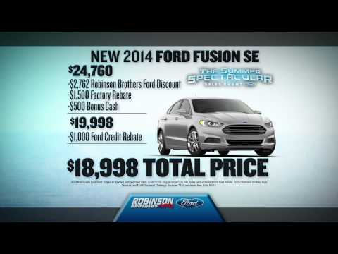 Robinson Brothers Ford - Trade In Trade Up   July 2014 Car Specials