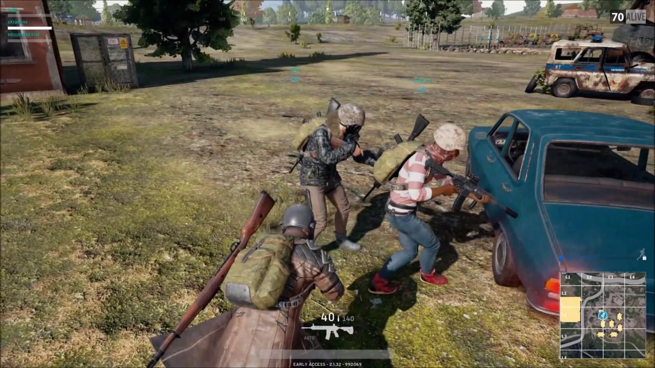 Players unknown battleground - (3 players Team) WIN 8 KILLS