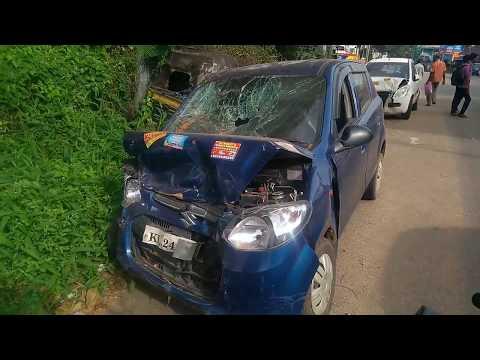 Maruti Suzuki Alto after real road accident | Suzuki Alto road crash | Car Crash without airbags