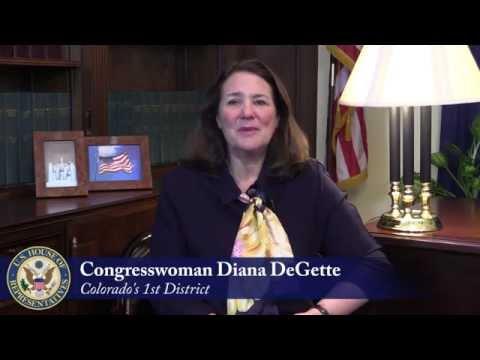 Rep. Diana DeGette's Message for Diplomacy Begins Here: Denver