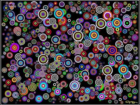 animation of progress in painting spots 7 abstract