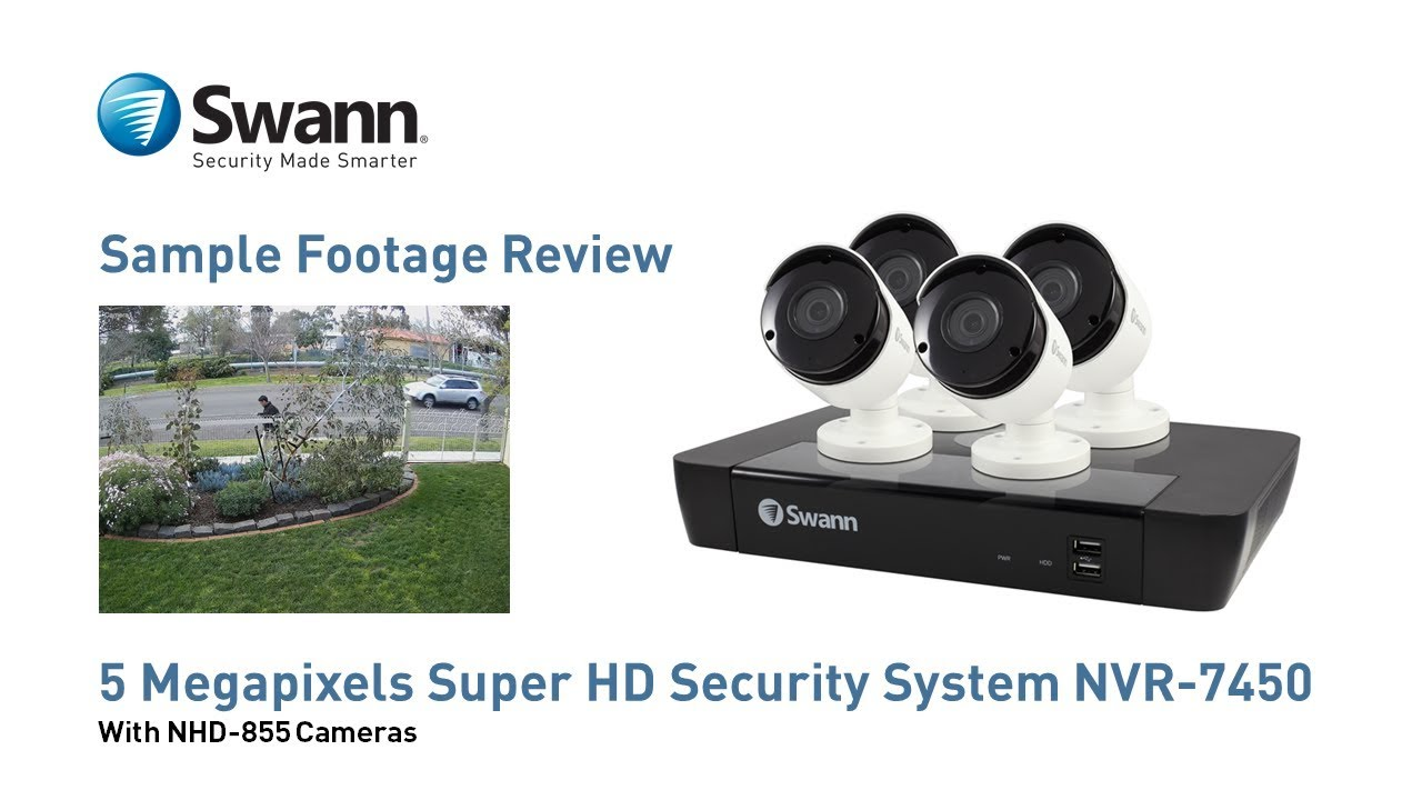 Swann 5mp Nvr Security Camera Sample Footage Review Nvr