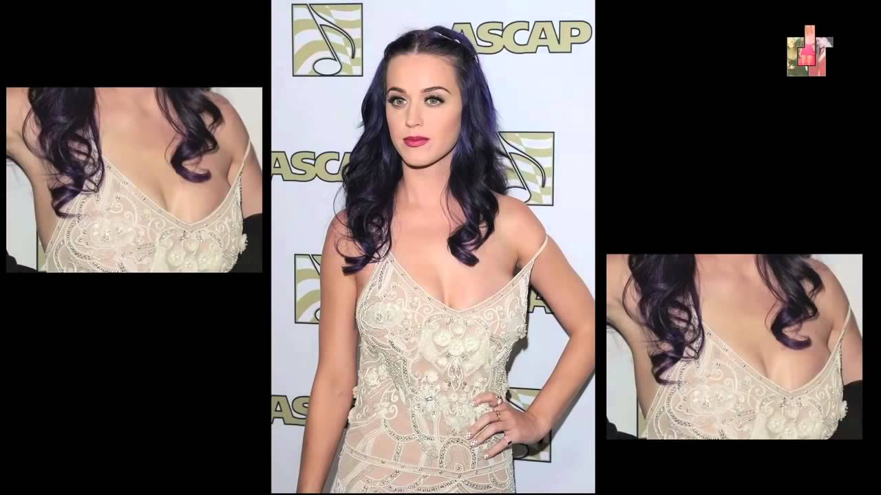 nipple Katy slips perry