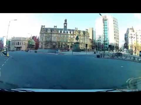 Driving in LEEDS CITY CENTRE HD Part6