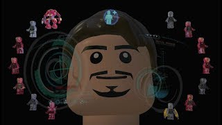 All Tony Stark Iron Man Suit-Up Animations in LEGO Marvel Videogames