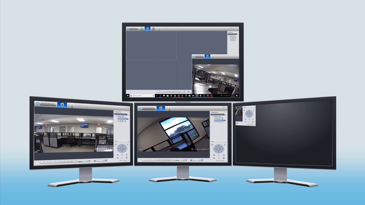 Multi monitor Support for Amcrest Surveillance Pro