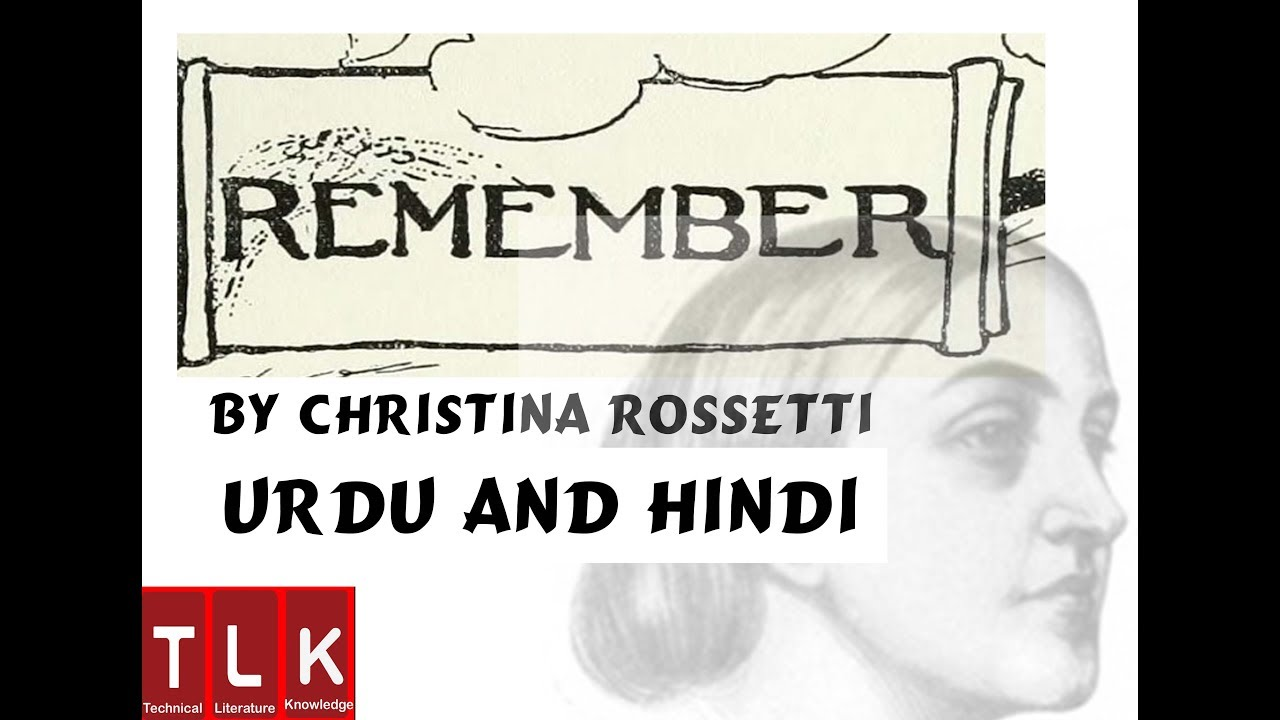 analysis of the poem remember by christina rossetti