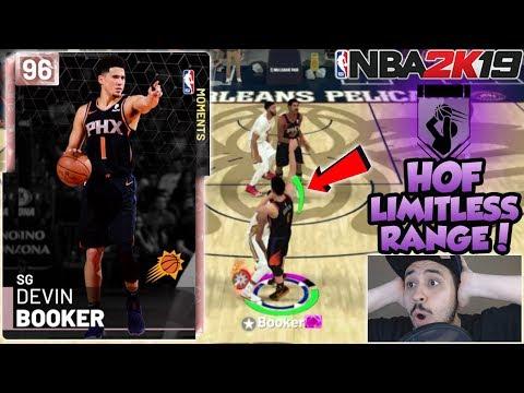 PINK DIAMOND DEVIN BOOKER GAMEPLAY! HOF LIMITLESS RANGE MAKES HIM THE BEST SCORER IN NBA 2K19 MYTEAM