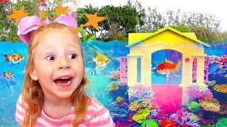 Stacy y papá compraron una nueva casa para niños