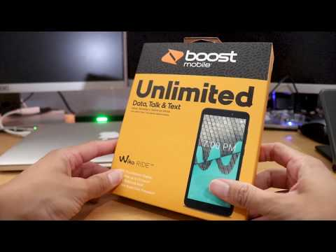 Wiko RIDE Unboxing & first impressions (Boost Mobile)