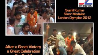 Sushil Kumar, wrestler, India - After a great Victory a great celebration for Sushil
