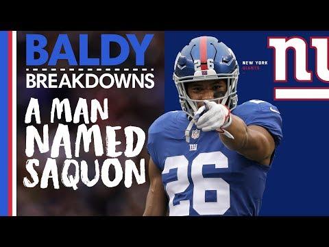 Analyzing Saquon Barkley's UNREAL Rookie Year | Baldy Breakdowns