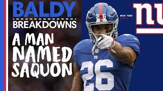 Analyzing Saquon Barkley's UNREAL Rookie Year | Baldy Breakdowns