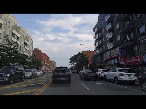 Driving from Flushing to South Jamaica in Queens,New York