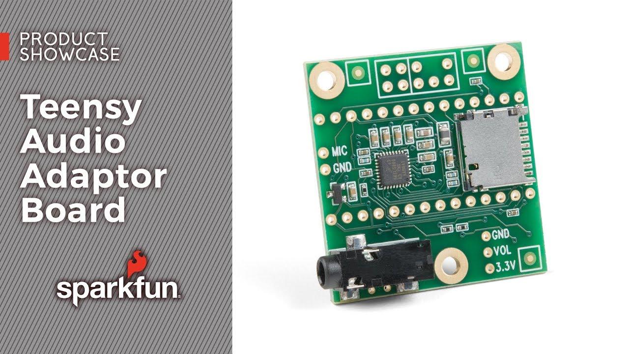 Teensy Audio Adaptor Board - DEV-15421 - SparkFun Electronics