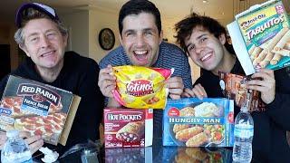 FROZEN FOOD MUKBANG ft DAVID, JASON, NATALIE AND CARLY!!