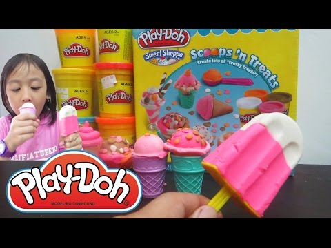 Kid Toy Ice Cream - Play Doh Ice Cream Cupcakes Popsicle Scoop Playset Playdough