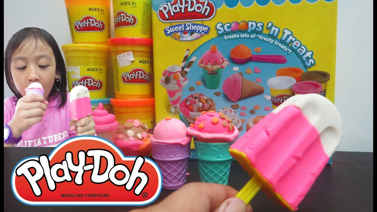Kid Toy Ice Cream Play Doh Ice Cream Cupcakes Popsicle Scoop