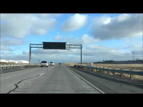 Drive to Pendleton from Stanfield; Oregon; Highway 395 & 84 east