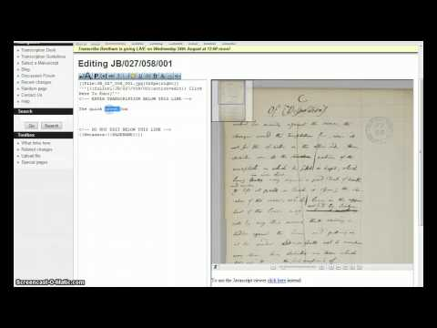 Getting Started With Transcribe Bentham