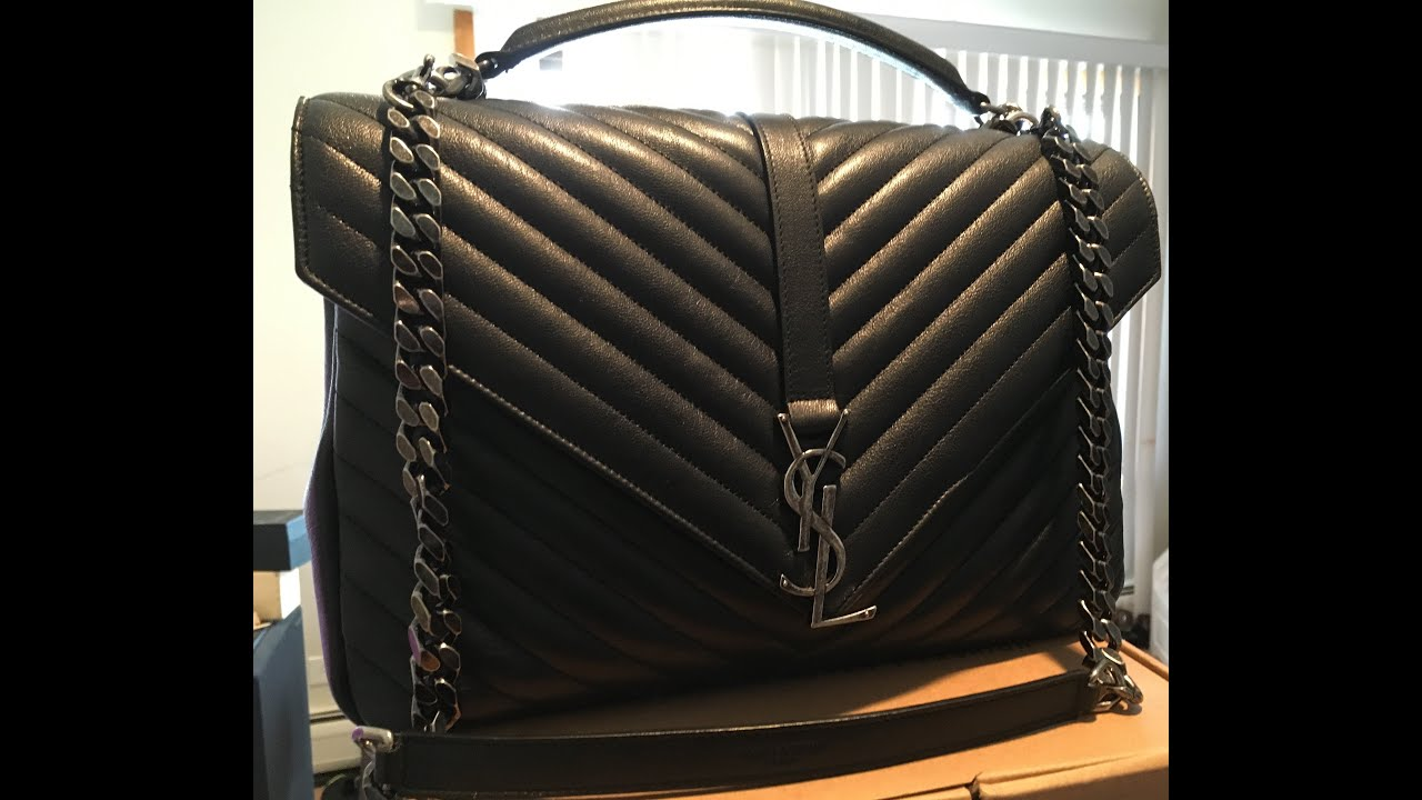 YSL College Bag Review and What Fits! 2016 - YouTube c5b7e78cbd552