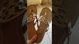 a72c8a7369a0 Tory Burch Miller sandals for Christmas 2016!! - YouTube