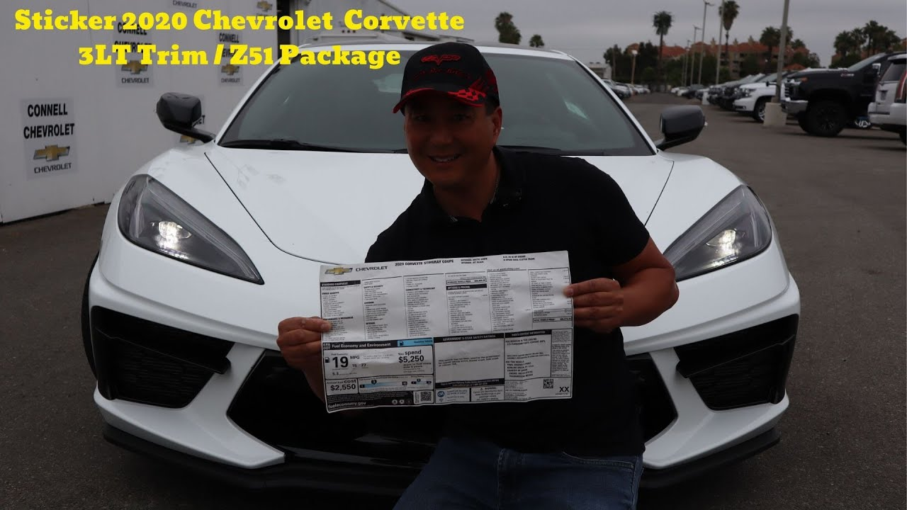 Sticker 2020 Corvette Z51 Cheaper than a Porsche 911 and Ferrari 488! It's only $59,995!!! Ran D