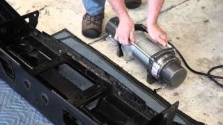 How to install the WARN Mid-Frame winch into an ARB Bull Bar Bumper.