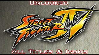 [PS3] Street Fighter IV *All Titles & Icons Unlocked+Characters Save*