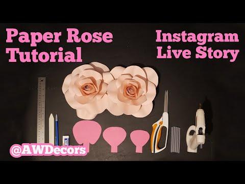 DIY Paper Rose Tutorial - From AWDecor's Instagram