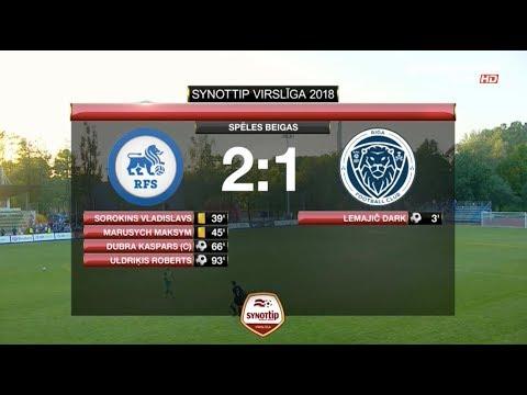 RFS - Riga FC 2:1 labākie momenti (21.mai.)